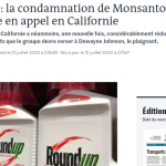 article sur une condamnation de Monsanto