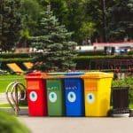 poubelles exterieurs de tri sélectif